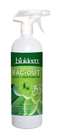 Biokleen Bac-Out Stain+Odor Remover with Sprayer, 32 Ounces, (Pack of 12)