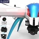 s Idea® 01204 S6 / Pro cámara Quadro HD de grabación de audio de ángulo ancho Función Brújula 4.5 Channel 2.4Ghz helicóptero RC helicóptero por control remoto de helicóptero RC helicóptero con giroscopio y 2.4 GHz Tecnología de estrenar, para interiores y exteriores con una función de sistema de estabilización 6 Eje y 2.4 GHz controlador listo para volar.