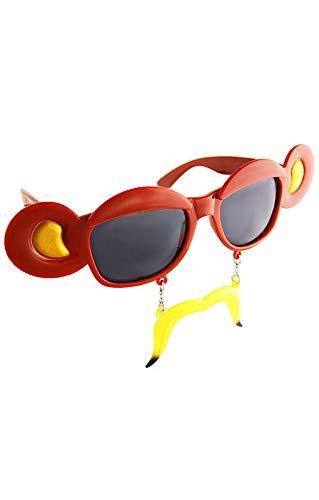 Horror-Shop Affen Sonnen-Brille mit Bananen Bart