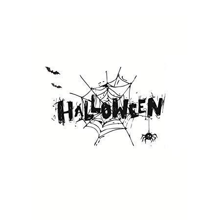 Yoveme Wand Sticker Halloween Fenster Aufkleber Spider Weihnachten Fenster klammert Sich an 3D 41,9x 29,2cm