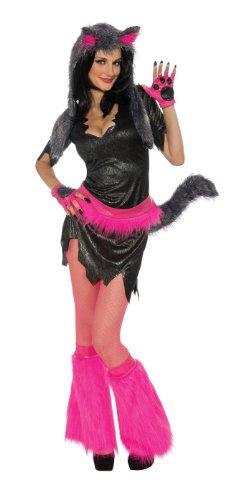 (Sexy neonfarbenes Wolf-Kostüm für Damen)