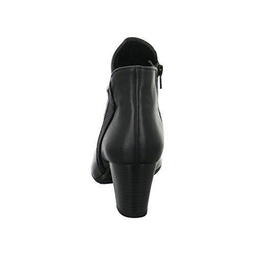 Gabor Damenschuhe 56.583.57 Damen Schnürstiefel, Schnürboots, Boots, Stiefel Schwarz schwarz (Micro)