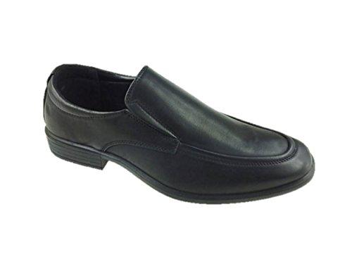 Bata Herren Faux Leder Slip auf Formale Büro Schuhe Schwarz Größe 7-12, Schwarz - Schwarz - Größe: 43 EU Formale Slip