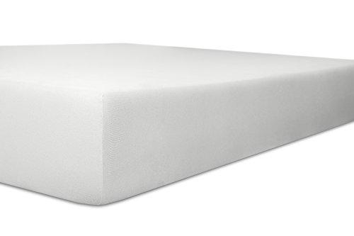kneer KULTUR DER NACHT Diamond-Stretch Jersey Spannbetttuch, weiß, 180/200-200/220 cm