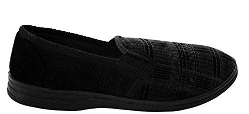 Black amp;h Hausschuhe check Herren Footwear A Flache dXnq74ZBZ