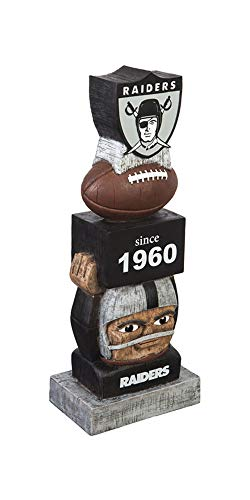 Team Sports America Oakland Raiders Vintage NFL Tiki Totem Statue (Oakland Raiders Uniformen)
