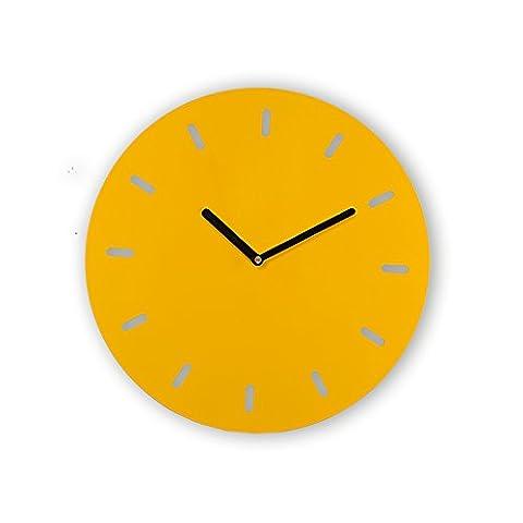 Ping0fm Moderne und Minimalistische Kunst Eisenglocke kreative einfachen Quarz Wandschmuck Wand Uhr stumm Wanduhren,14 Zoll,B