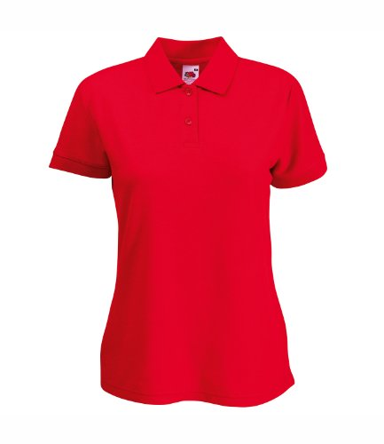 Fruit of the Loom - Polo - Femme Rouge