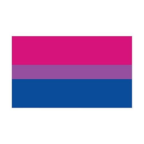 CafePress - Bisexual Pride Flag Rectangle Sticker - Rectangle Bumper Sticker Car Decal by CafePress