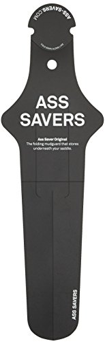 Ass Savers Original - Guardabarros para bicicletas, color negro, talla 34 cm