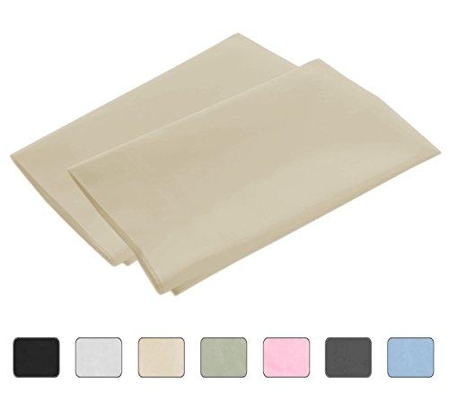 American Kissenbezug-Set aus ägyptischer Baumwolle 2 Stücke 21x42 König Elfenbein -