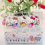 Partysanthe Kitty Shape Party Candle / Birthday Candle / Theme Birthday Candle / Cake Candle/Cute Shape Kitty (5 Pcs Candle Set)
