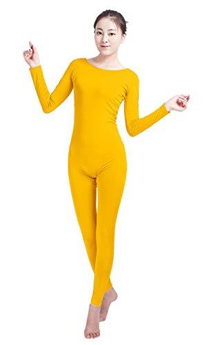 M&m Kostüm Erwachsene Gelb Für - Insun Unisex Zentai Ganzkörperanzug Kostüm Ganzkörperanzug Fasching Bodysuit für Erwachsenen Gelb M