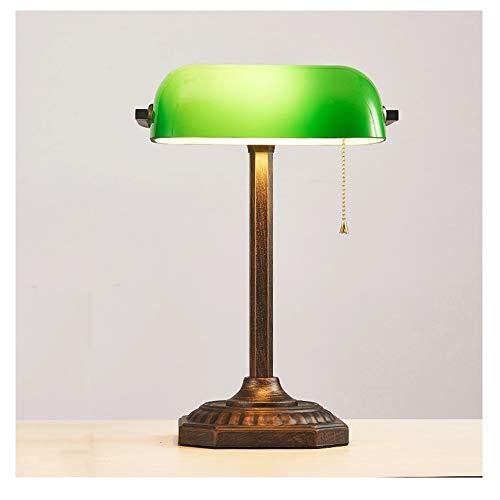 OOFAF LIGHT Lámpara de Mesa, Verde Esmeralda Vidrio luz de ...
