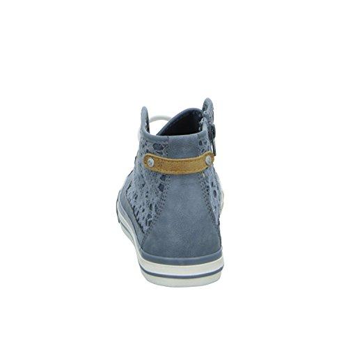 Mustang 5024-507, Baskets hautes fille blau-kombi