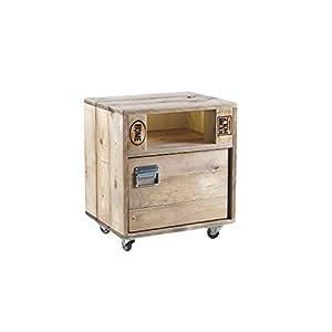 Palettenmöbel Kommode mit Türchen in Palettenoptik Vintage gebeizt. Jedes Möbel ein Unikat und in Handarbeit in Deutschland hergestellt.