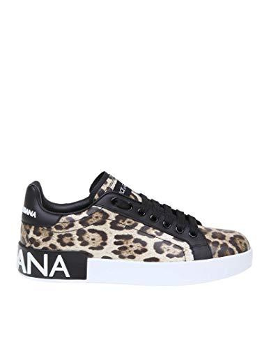 DOLCE E GABBANA Damen Ck1570aa990hk13m Braun Leder Sneakers