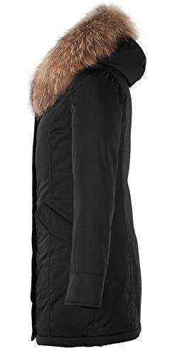 Grimada 6M166M Damen Daunenmantel Arctic Parka TARORE mit Echtfellkapuze (34, schwarz) - 3