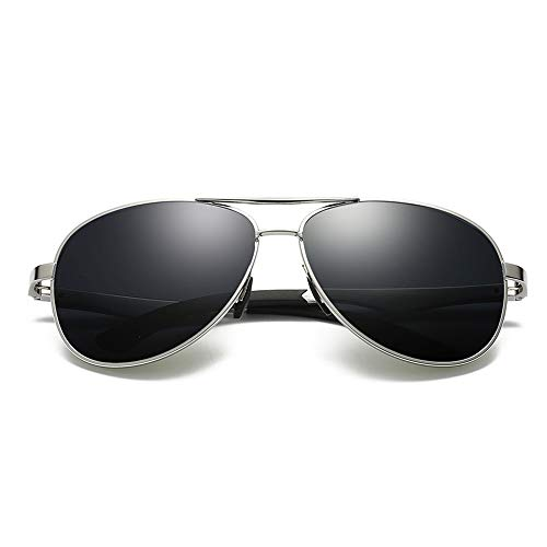 Gläser Gama Sonnenbrillen Herren Sonnenbrillen Sport Sonnenbrillen Polarisierte Gläser UV400 UV Cut Ultraleichtes Aluminium Brillen (Color : Grau, Size : Kostenlos)