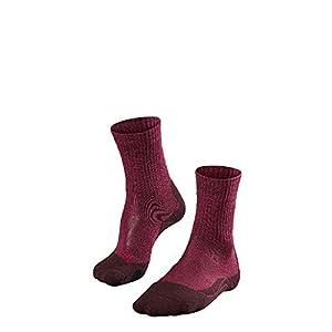 FALKE TK2 Wool Damen Trekkingsocken / Wandersocken – rot 1 Paar, Merinowolle, mittelstarke Polsterung, wärmende Wirkung