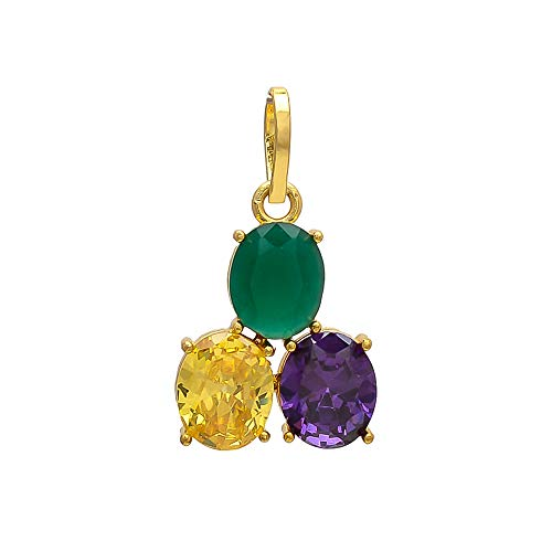 Shree Shyam Synthetic Stone Emerald/Panna, Yellow Sapphire/Pukhraj, Blue Sapphire/Neelam Pendant/Locket For Men And Women