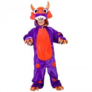 Monster Purple With Orange Spots (Orange Jumpsuit Kostüm Ideen)