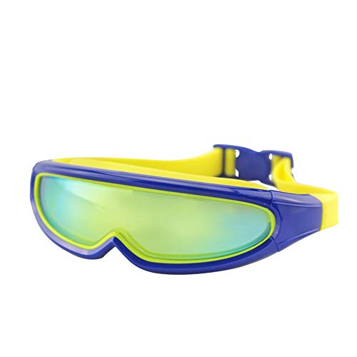 LPcool Taucherbrille,Outdoor Unisex Große Rahmen Bunte Überzogene Schutzbrillen Wasserdichte Anti-Fog-Silikon Schwimmen, Dunkelblau