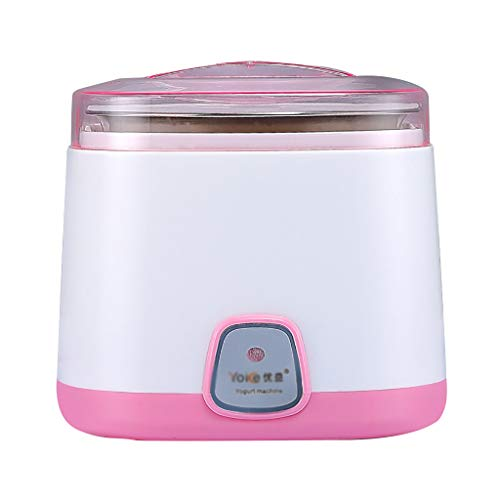 Yogurt Maker Home Automation Revestimiento De Acero Inoxidable 1l Pink 150 * 150 * 150mm
