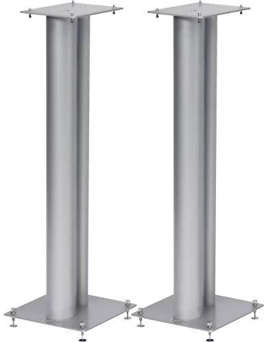 Norstone Lautsprecherständer Stylum, stabil aus Metall, bis 50kg belastbar, Paarpreis (Stylum 3 (80cm), Silber (matt))