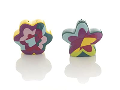 Porcelain Flower Design Salt and Pepper Shaker Set