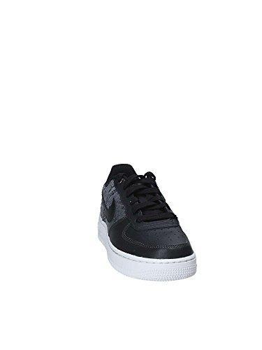 Nike, Enfant, Air Force 1 Lv8 Gs, Cuir, Sneakers, Carbone Noir