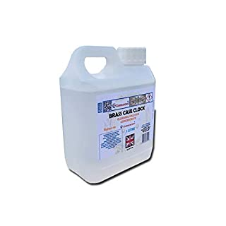 Ultrasonic brass clock cleaning fluid solution concentrate 1lt for sensitive metals and antiques 1 litre