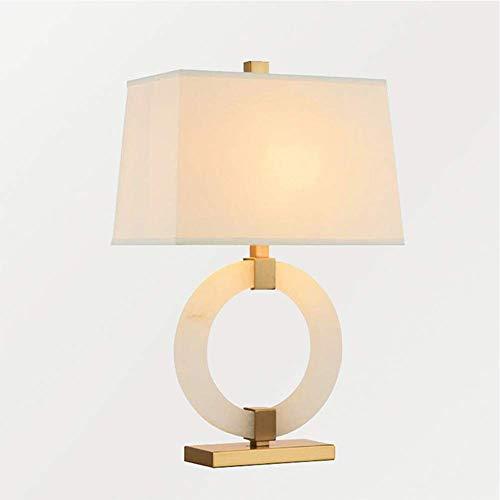 WTZWY Azabu Stein-Ring-Tischlampe, Kreative Kunst Einfache Schlafzimmer Nachttischlampe, Gewaschener Stoff Konische Trommel Shade Für Wohnzimmer Nacht Arbeitszimmer -