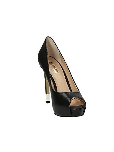 Guess Clivage Femmes Chaussures Hadie Tailler Open Toe Talon Cm 12 Pl Cm 2,5 Leather Noir