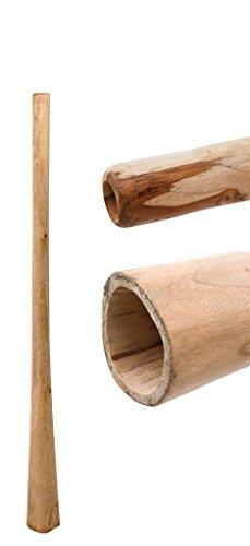Didgeridoo aus Teakholz naturbelassen geölt Länge: 130 cm schöner Gegendruck vergleichbar mit Eukalyptus aber preiswerter klarer Ton Rissstabilität Weltmusik Aborigines Australien Percussion