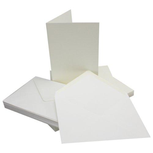 10 Sets - Faltkarten DIN A5 - Natur-Weiss + Umschläge - Premium QUALITÄT - 14,8 x 21 cm - sehr formstabil - für Drucker geeignet! - Qualitätsmarke: NEUSER FarbenFroh