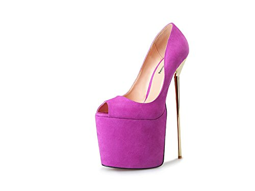 HeiSiMei Heisimei/A-8/22 cm/métal/Super/40-50 code/poissons/femme/chaussures PURPLE-EU40