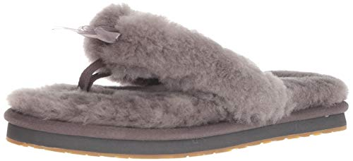UGG Australia Damen W Fluff FLIP Flop III Pantoffeln, Grau Grey, 40 EU (Uggs 8 Frauen Größe)