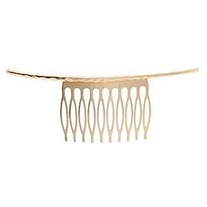 Bonarty Gold Silver10 Zähne Haarkämme Clips Leer Für DIY Braut Haarschmuck Geschenk