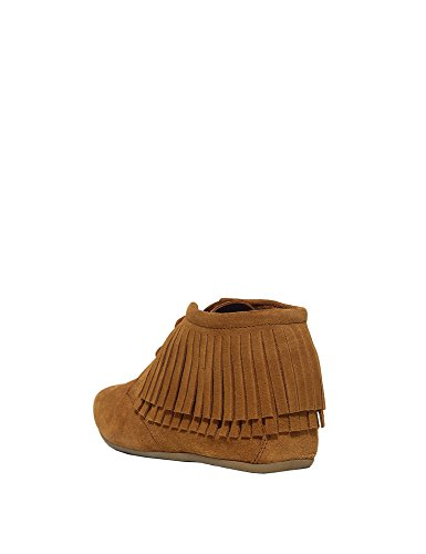 Maruti Women's Mimosa Women's Camel Ankle Moccasin Boots Suede brown