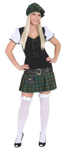 Scottish Girl grün : Kleid, Gürtel und Barett, Erwachsenen-Größe:40