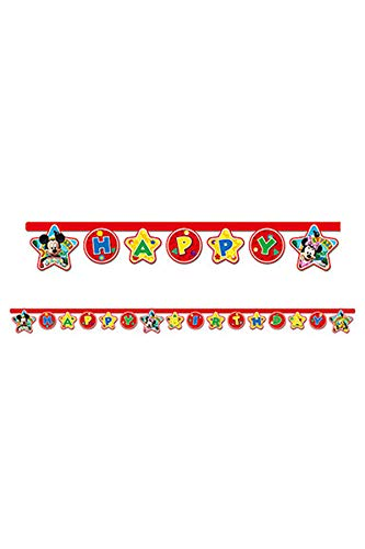 Disney 2,2 m Mickey Mouse Happy Birthday Banner (Für Erwachsene Disney-kostüm-ideen)