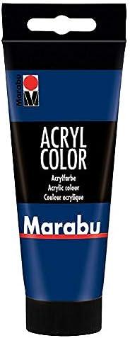 Marabu- Colore Acrilico Blu Scuro, 100 ml, 0012010050053