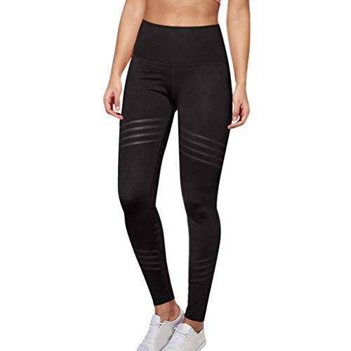Legging de Sport Stretch Pantalon Elastique Taille Haute à Rayures Séchage Rapide Casual Fitness Pants Jogging Vélo Yoga Watopi