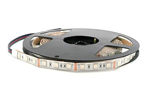 Bobine LED bande flexible 300 LED 5050 SMD RGB 5 m avec Adhésif double face 3 m Lumière Rouge/vert/bleu pour l'Extérieur Étanche IP65