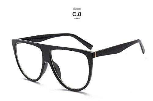 Yiwa protezione UV occhiali da sole, occhiali da sole alla moda adatto per uomini e donne, Black Frame Gradient