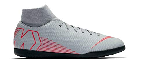 Nike Jr Superfly 6 Club IC Scarpe da Calcetto Indoor Unisex-Bambini, Multicolore (Wolf Grey/Lt Crimson/Black 060) 33 EU