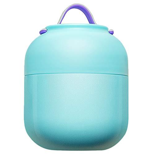 TLfyajJ Brotdose-Isolierungssuppentopf-Eintopf-Wasserkocher-tragbarer Schüssel-Vakuumnahrungsmittelbehälter für Mittagessen, Suppe usw Blau 500ml