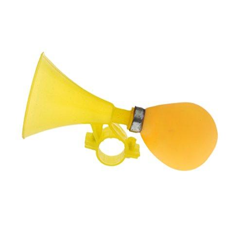 perfk Vintage Fahrradglocke Glocke Klingel Hupe Fahrradklingel Fahrradhupe für Kinderfahrrad - Gelb