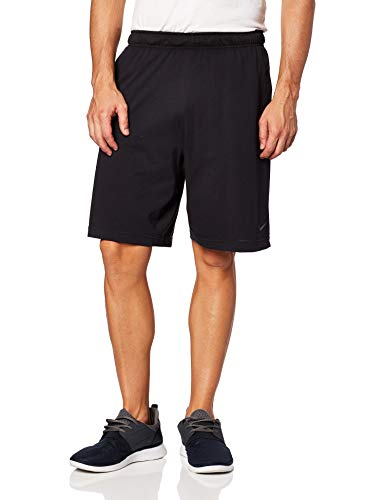 Nike Herren M NK DRI-FIT Cotton Shorts, Black/Anthracite, L